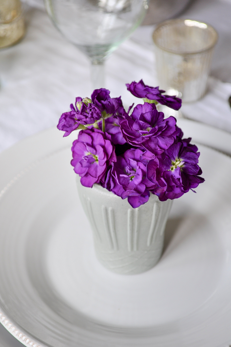 Easter Place Setting Individual Floral Bouquet Dining Room
