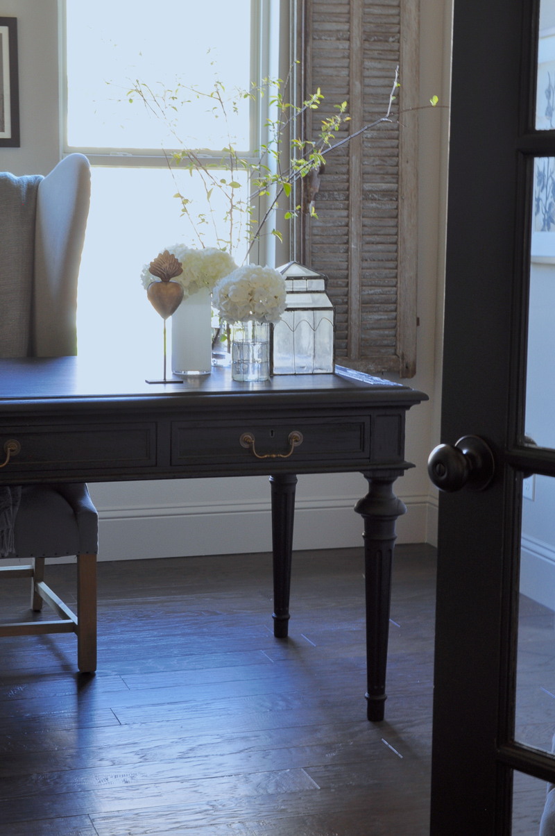 Gorgeous Restoration Hardware Desk, Black French Doors, Chippy S