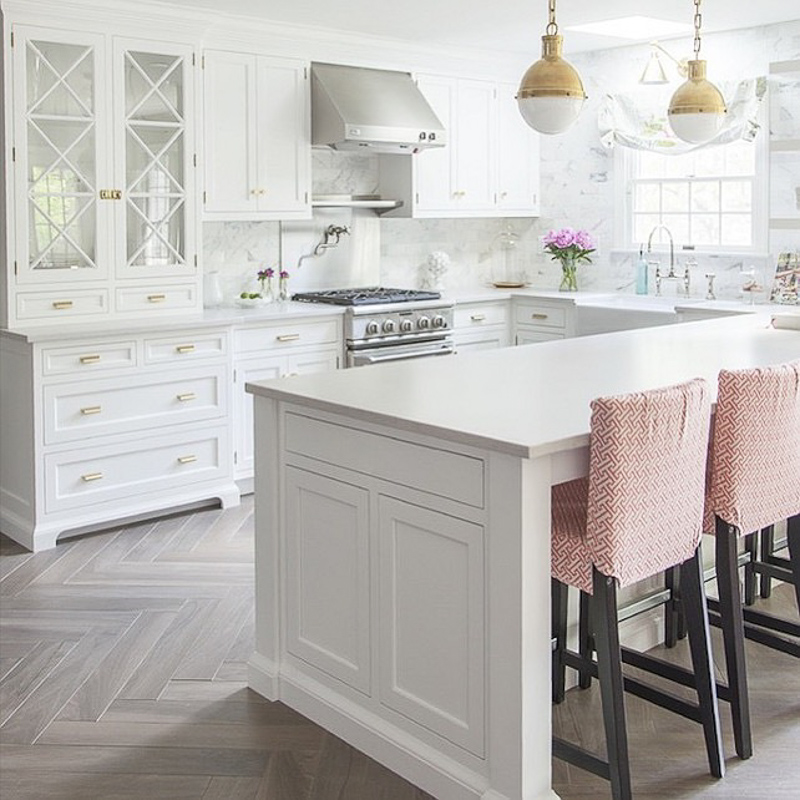 The white kitchen is here to stay decor gold designs for Floor and decor kitchen cabinets