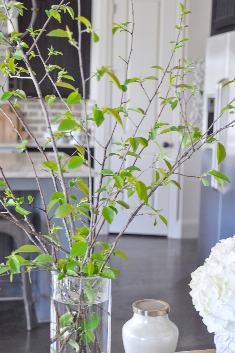 Spring Decor with Fresh Cut Branches Kitchen