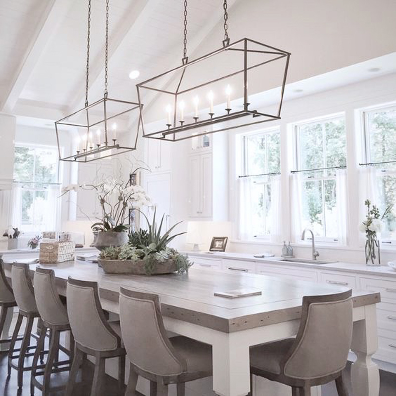 White Kitchen with Natural Elements Lots of Windows Beautiful Li