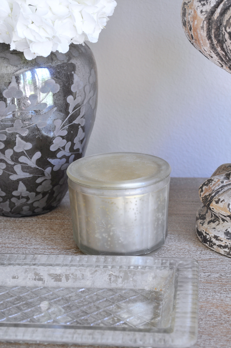 Bedside Table Candle and Tray
