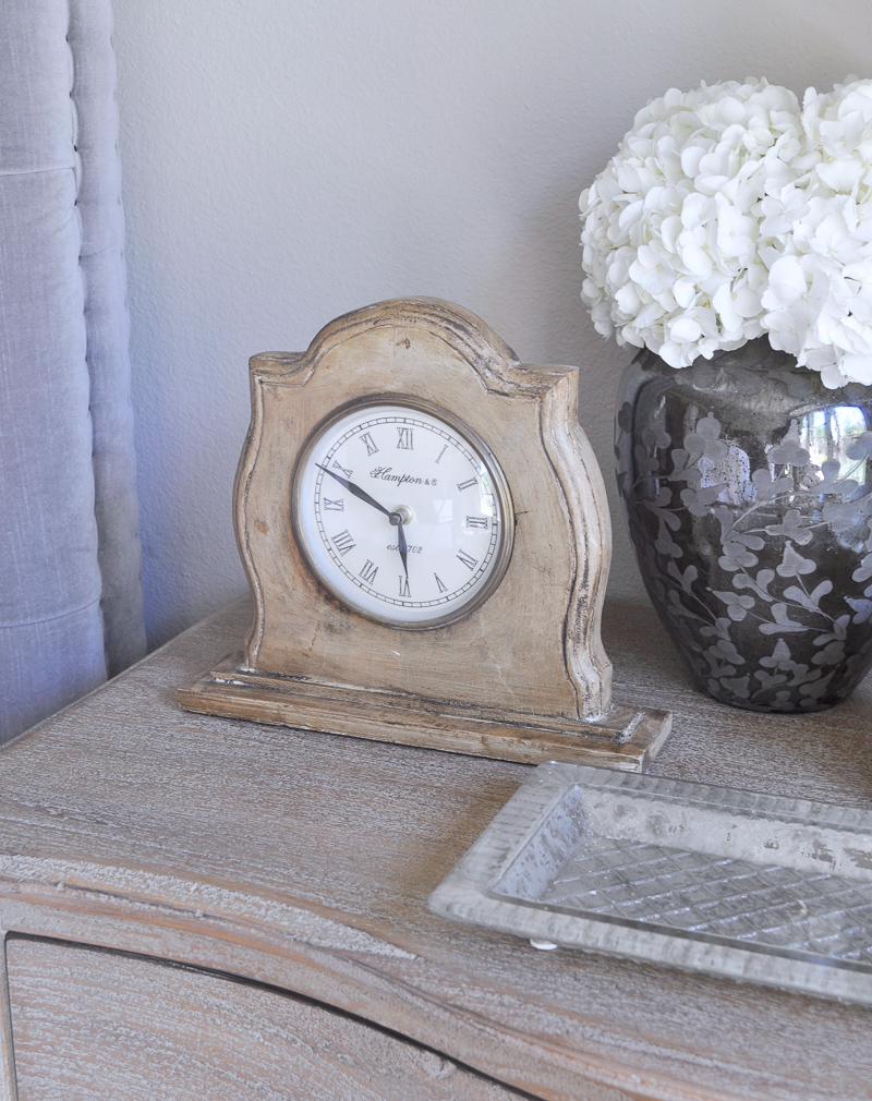 Bedside Table Clock and Tray