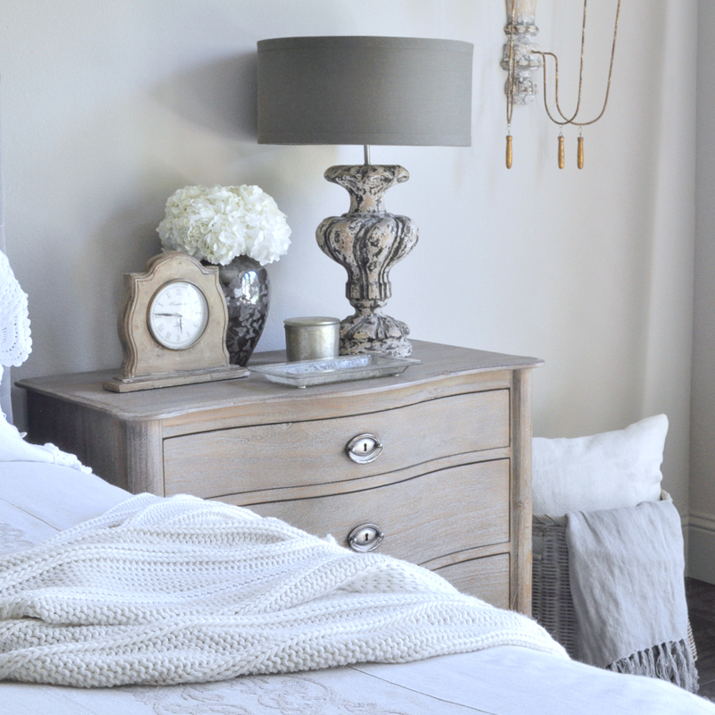 bedside table essentials and nightstand decor