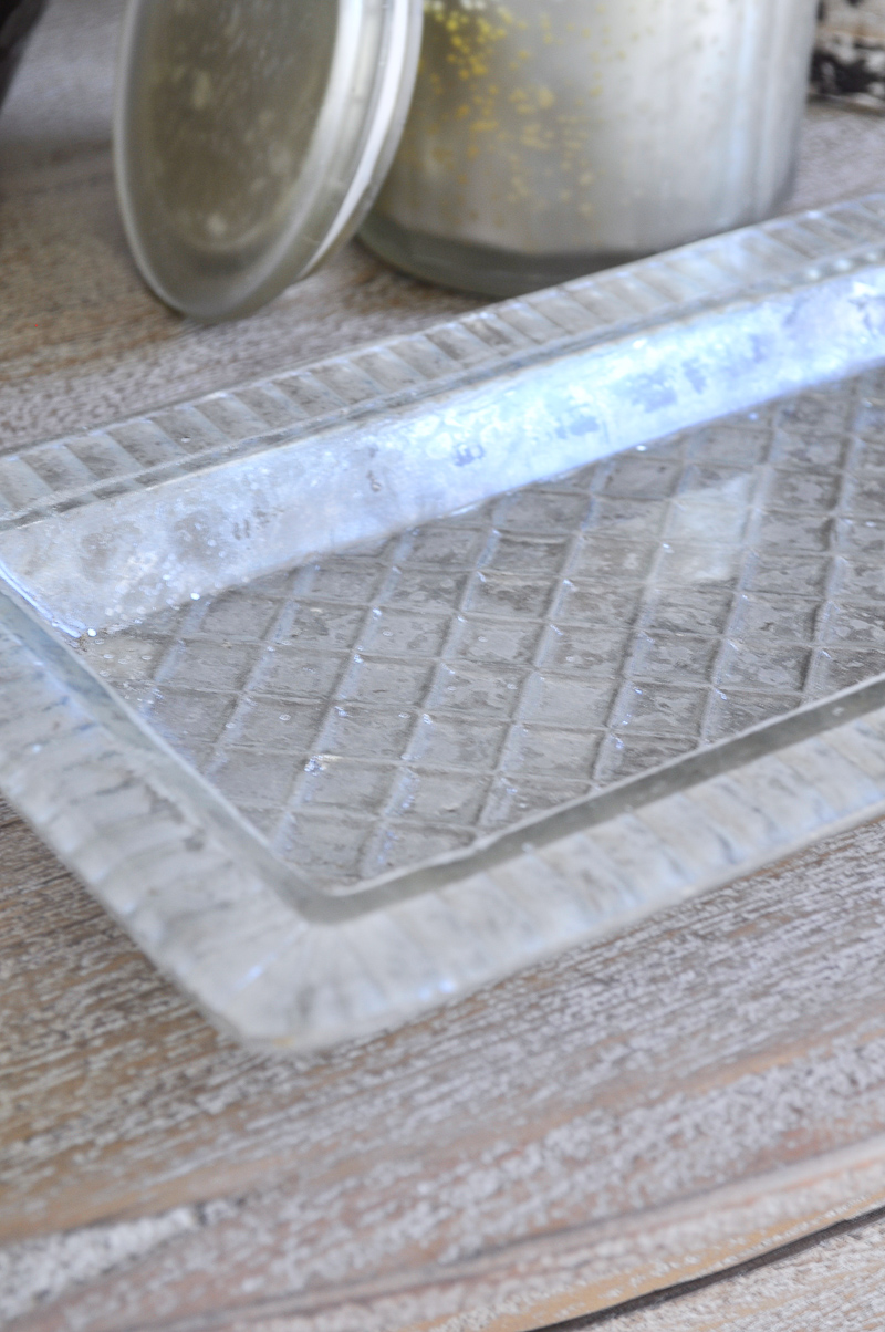 Bedside Table Essentials Glass Tray