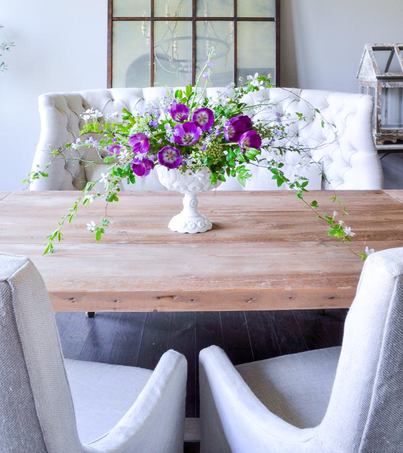 White Vase Challenge Decor Gold