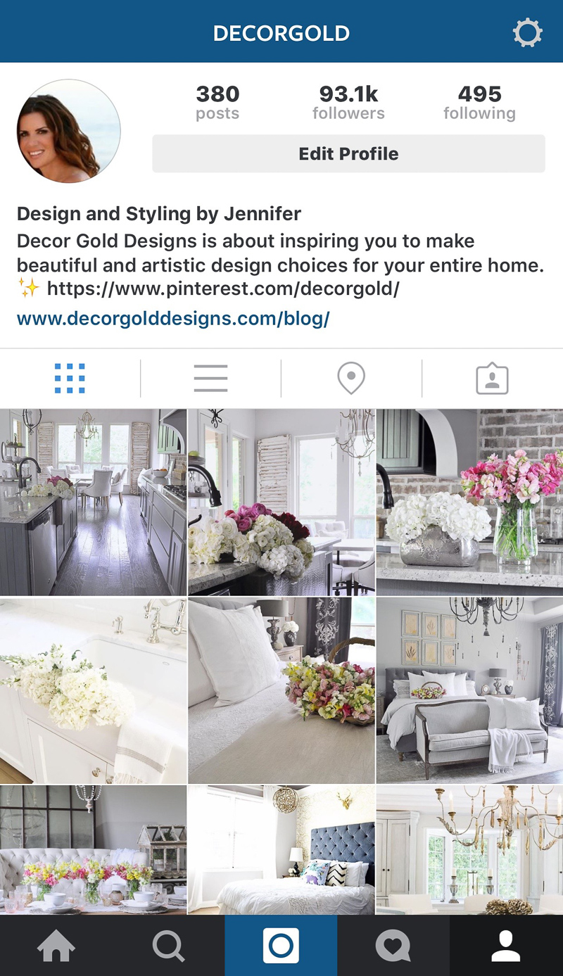 Decor Gold Designs Instagram Feed