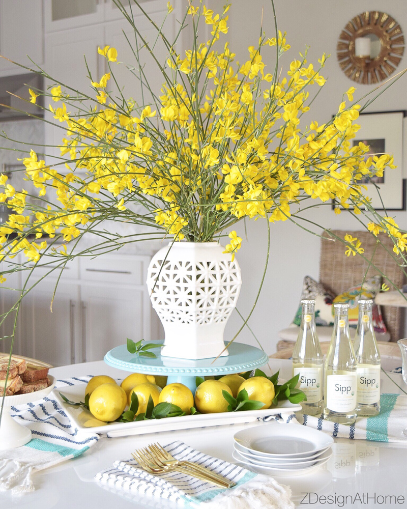 White Vase Challenge Z Design at Home