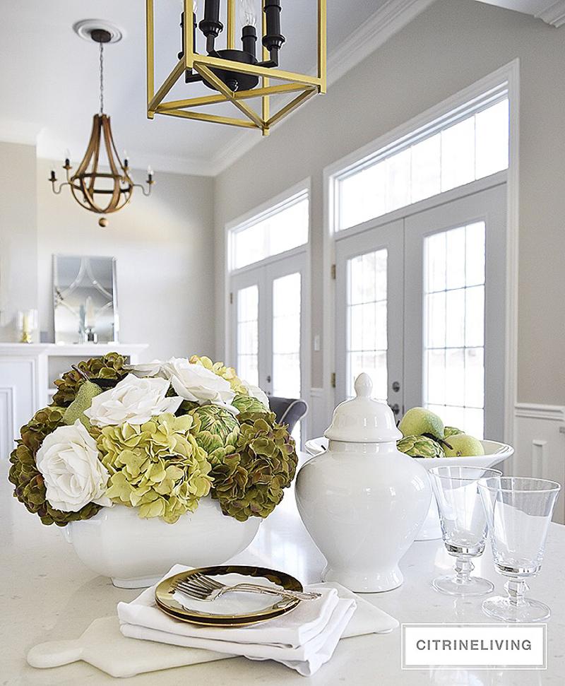 White Vase Challenge Citrine Living