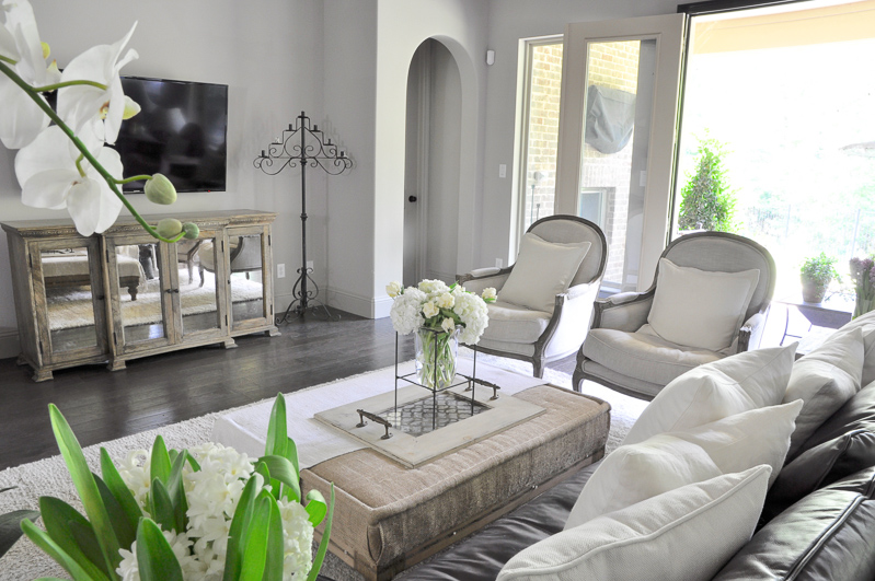 Beautiful and Cozy Light Neutral Family Room by Decor Gold Designs
