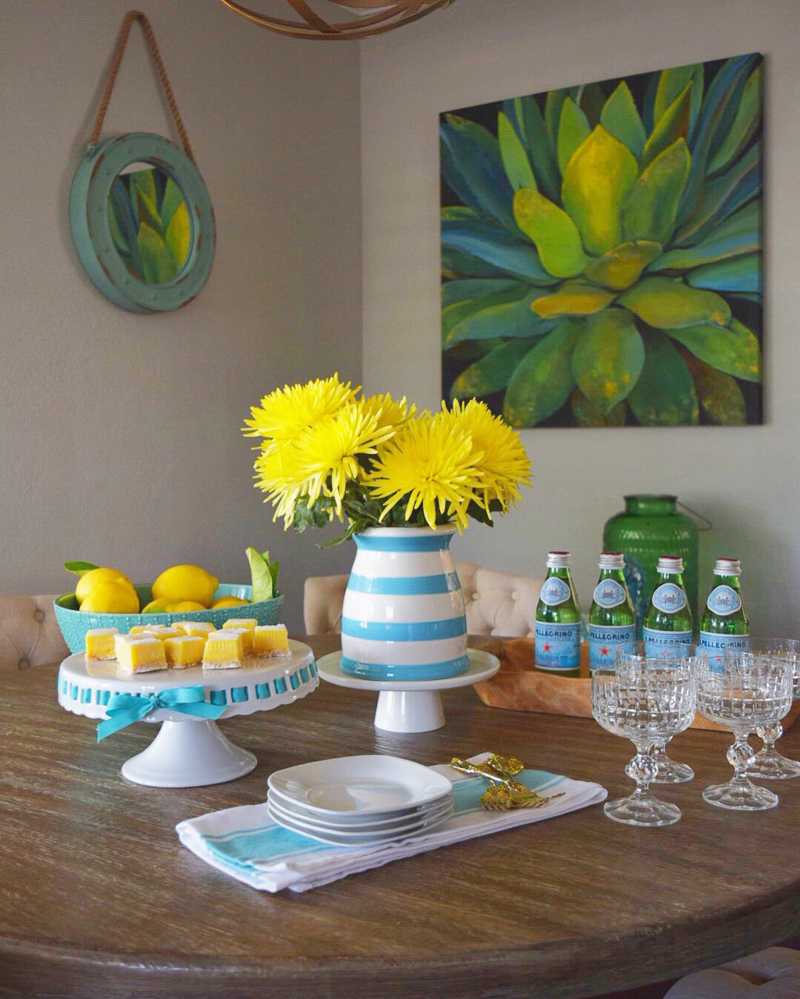 Cake Stand with Lemons and Lemon Squares by Crazy Chic Design