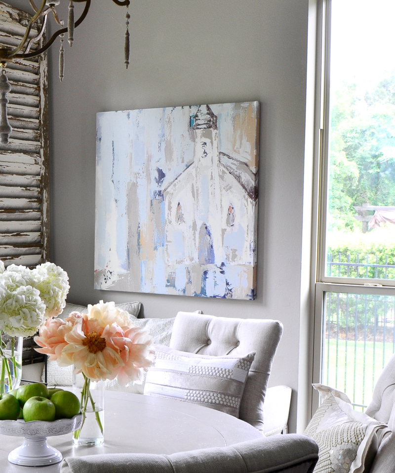 Breakfast Room with Beautiful Deann Designs Art