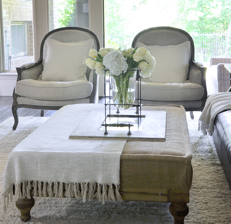 Gorgeous Arm Chairs in Indoor Outdoor Family Room