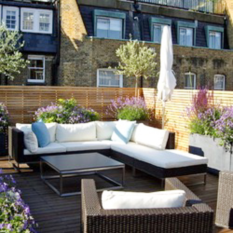 """ Contemporary roof terrace, Marylebone, London"" hampstead garden design Contemporary roof terrace, Marylebone, London"