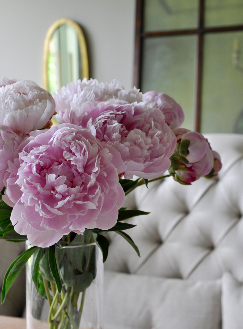 Summer Home Tour Gorgeous Pink Peonies_