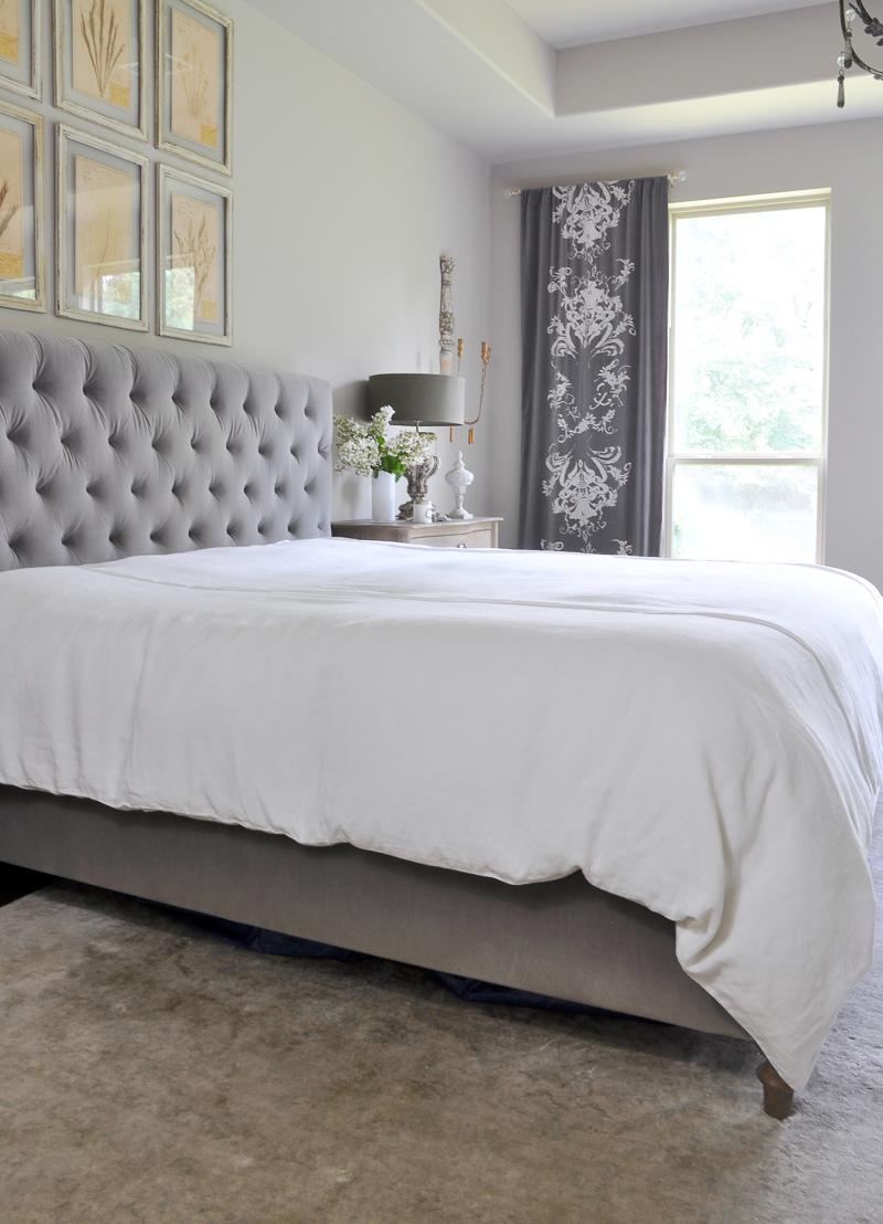 dreamy white bedding in linen