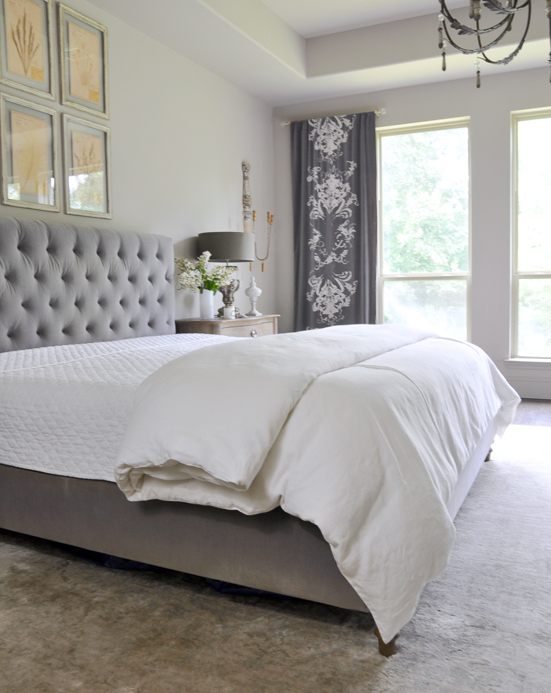 bedding basics in beautiful white linen