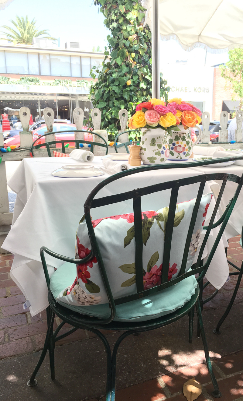 The Ivy West Hollywood Beautiful Patio Seating