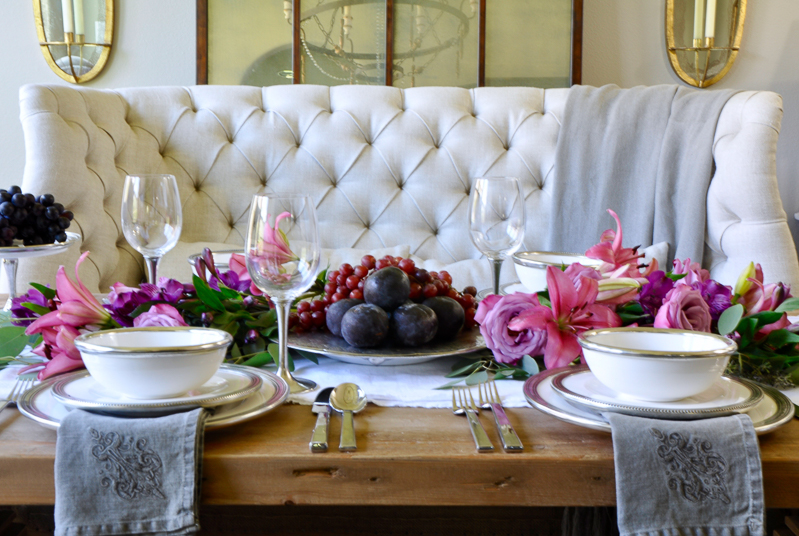 Table styling basics featuring arte italica decor gold for Fine dining table setting