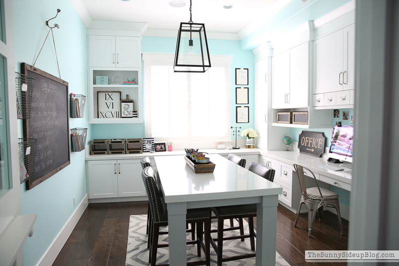 Bright home office craft room by Sunnyside Up