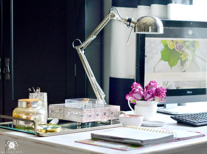 Feminine home office space by Kelley Nan