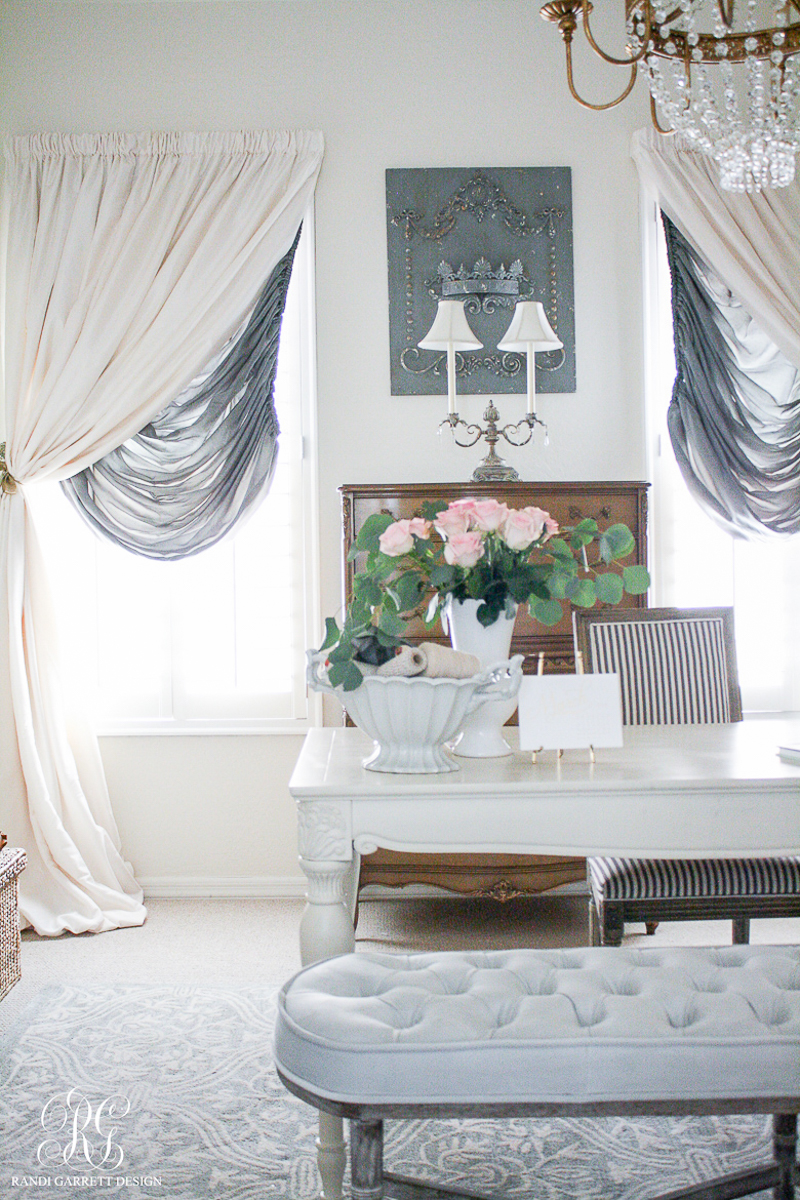 Gorgeous romantic office by Randi Garrett Design