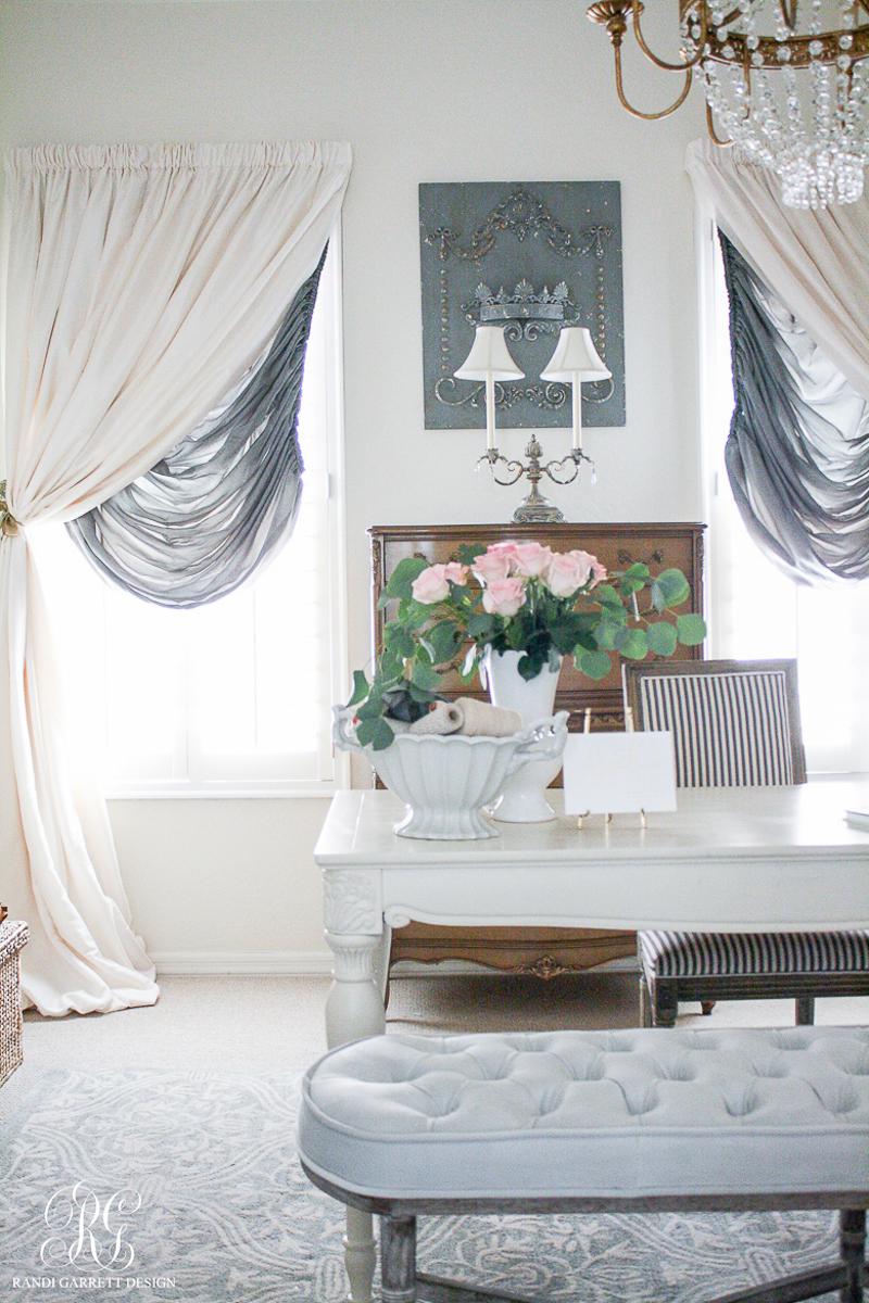 Gorgeous romantic office by Randi Garrett Design