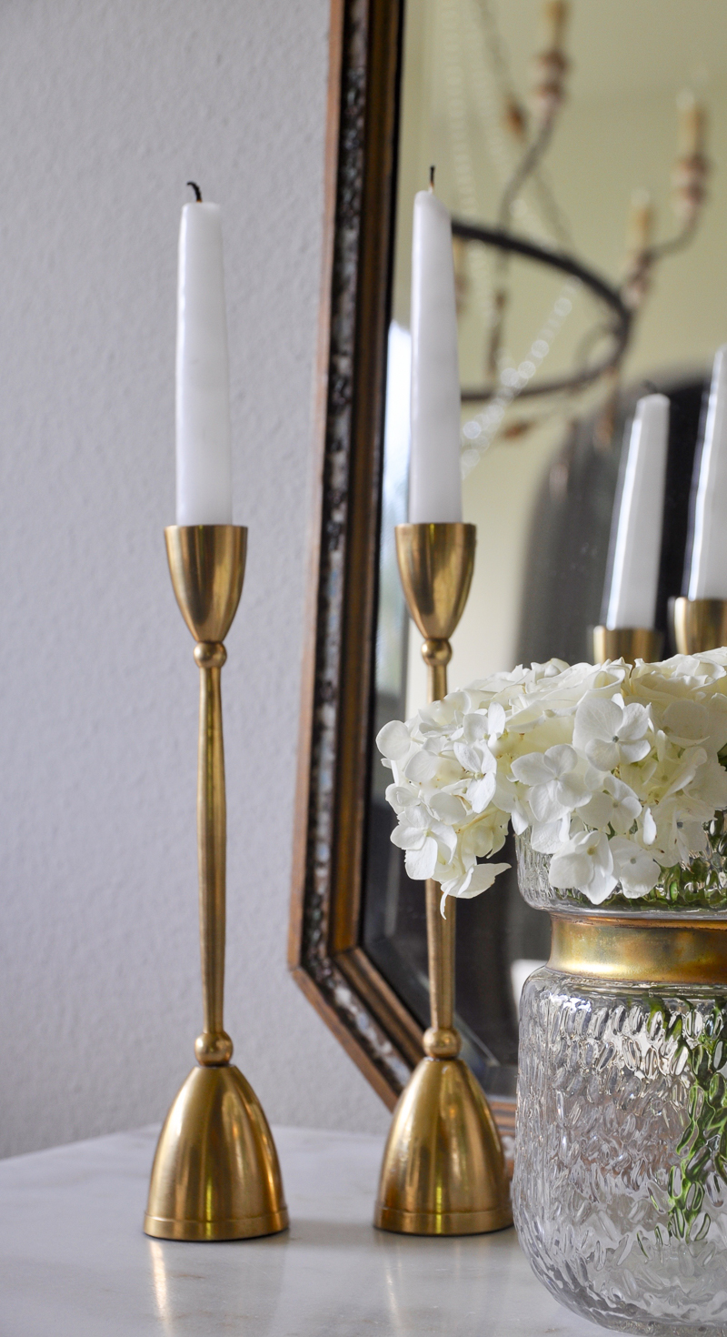 brass candlesticks so elegant