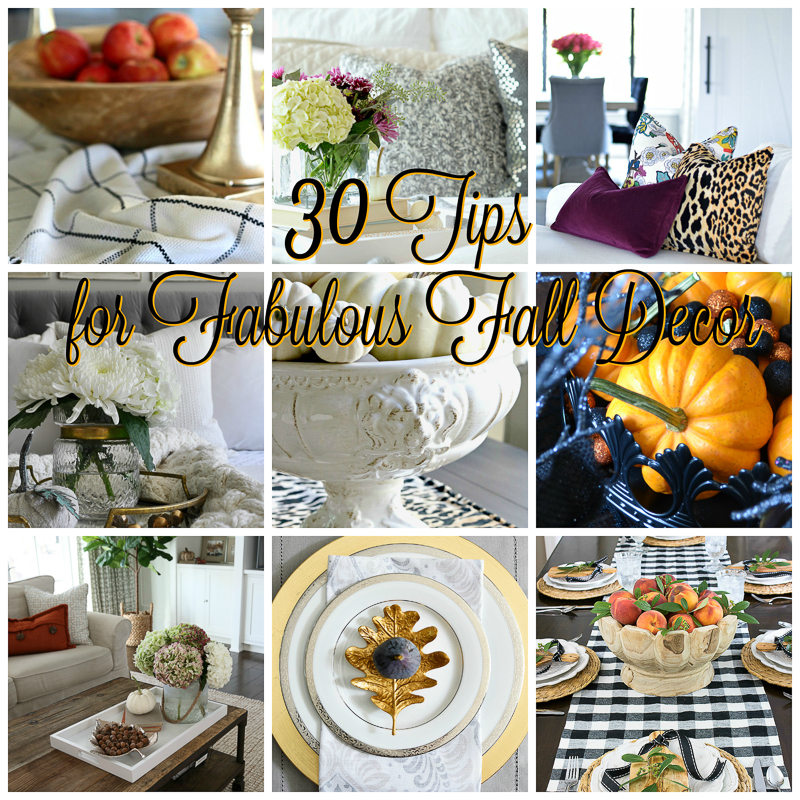 Fresh Fall Home Decorating Ideas Home Tour: 30 Tips For Fabulous Fall Decor