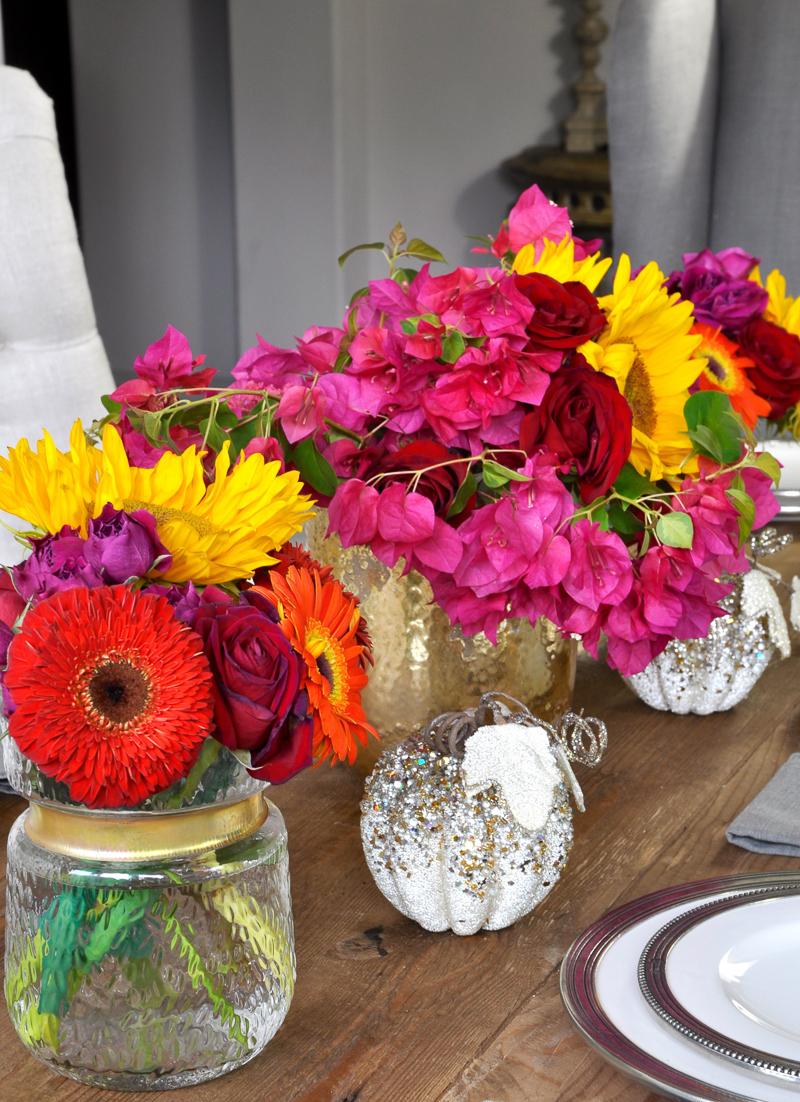 beautiful-bougainvillea-and-sunflowers-tablescape