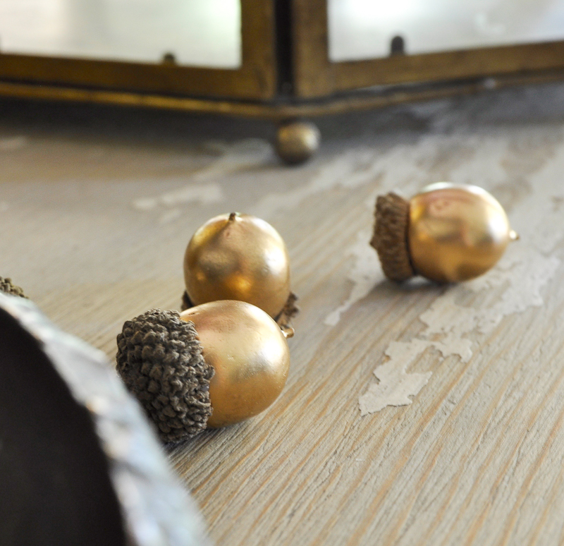 beautiful-gold-pottery-barn-acrons-for-fall-decorating