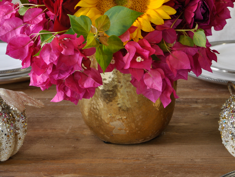 bright-pink-bougainvillea-in-gold-vase-for-summer