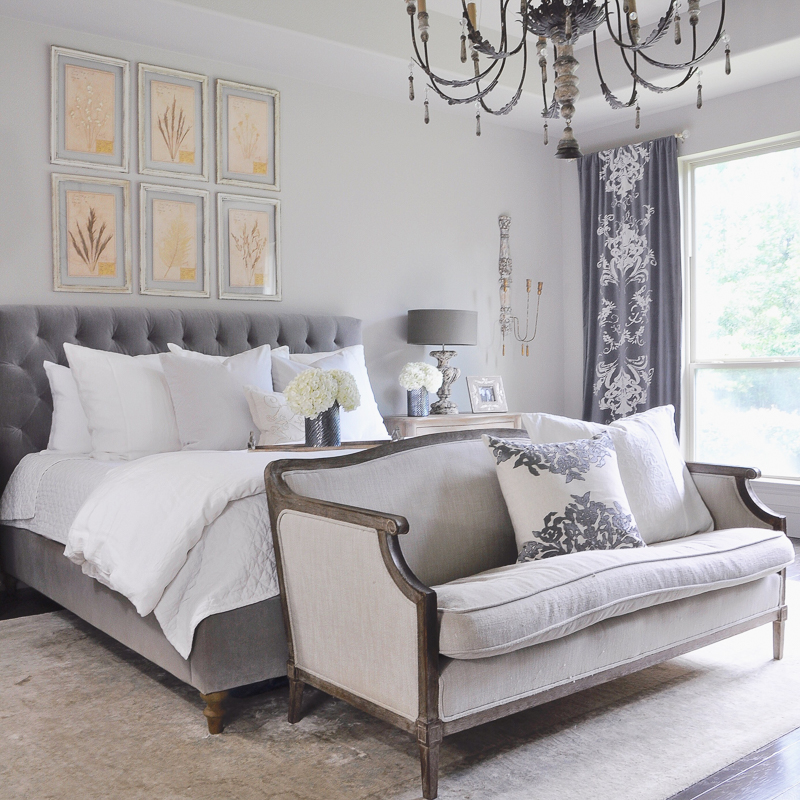 master-bedroom-decor-gold-designs-gray-and-white-with-elegant-look-and-large-chandelier_