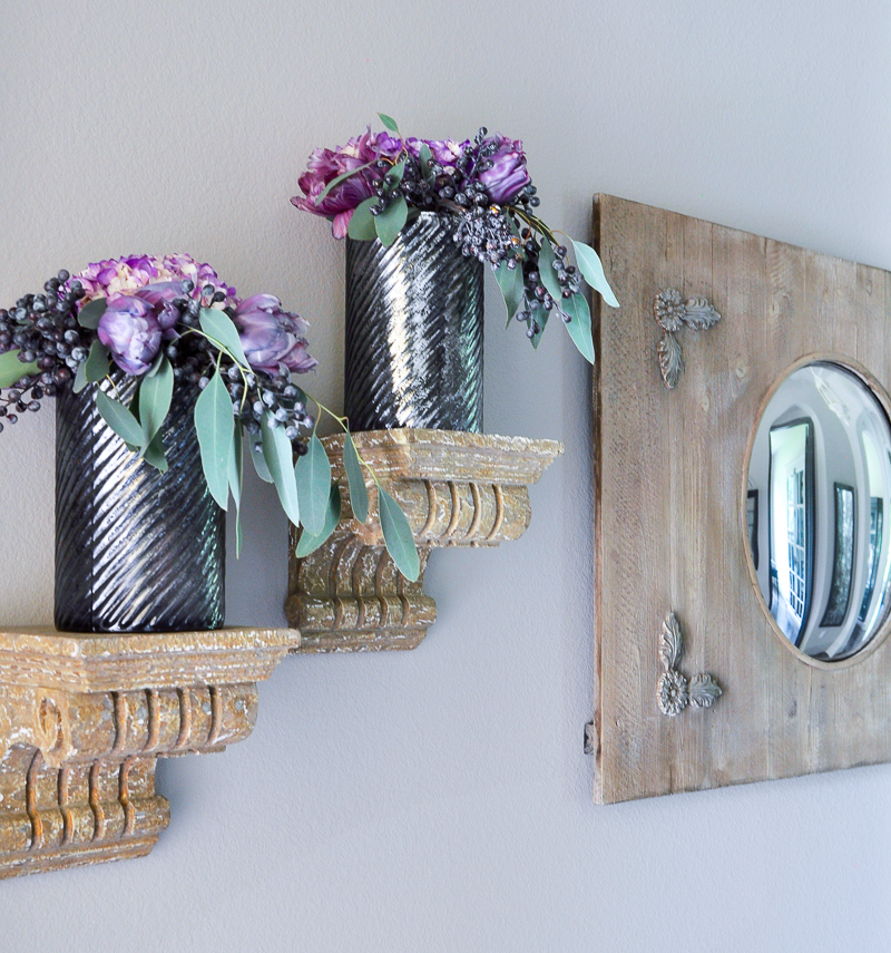 purple-fall-florals-in-entry-hall_