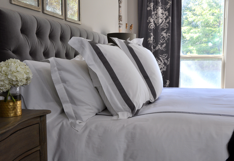 master-bedroom-with-grey-and-white-bedding-so-beautiful-2