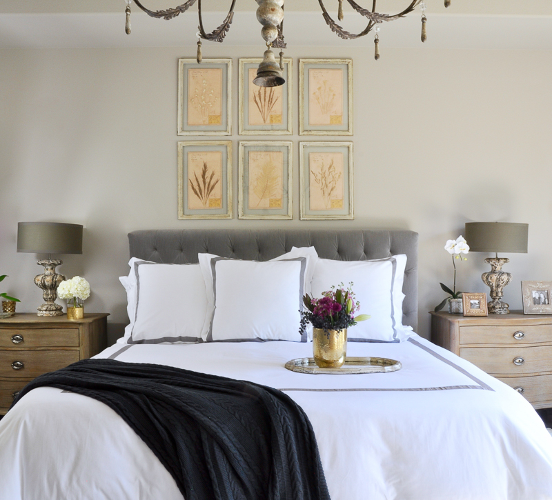 sophisticated-bedroom-gray-and-white-linens