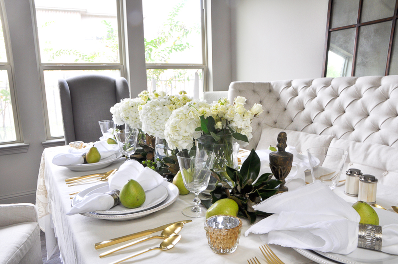 how to set a beautiful thanksgiving table decor gold