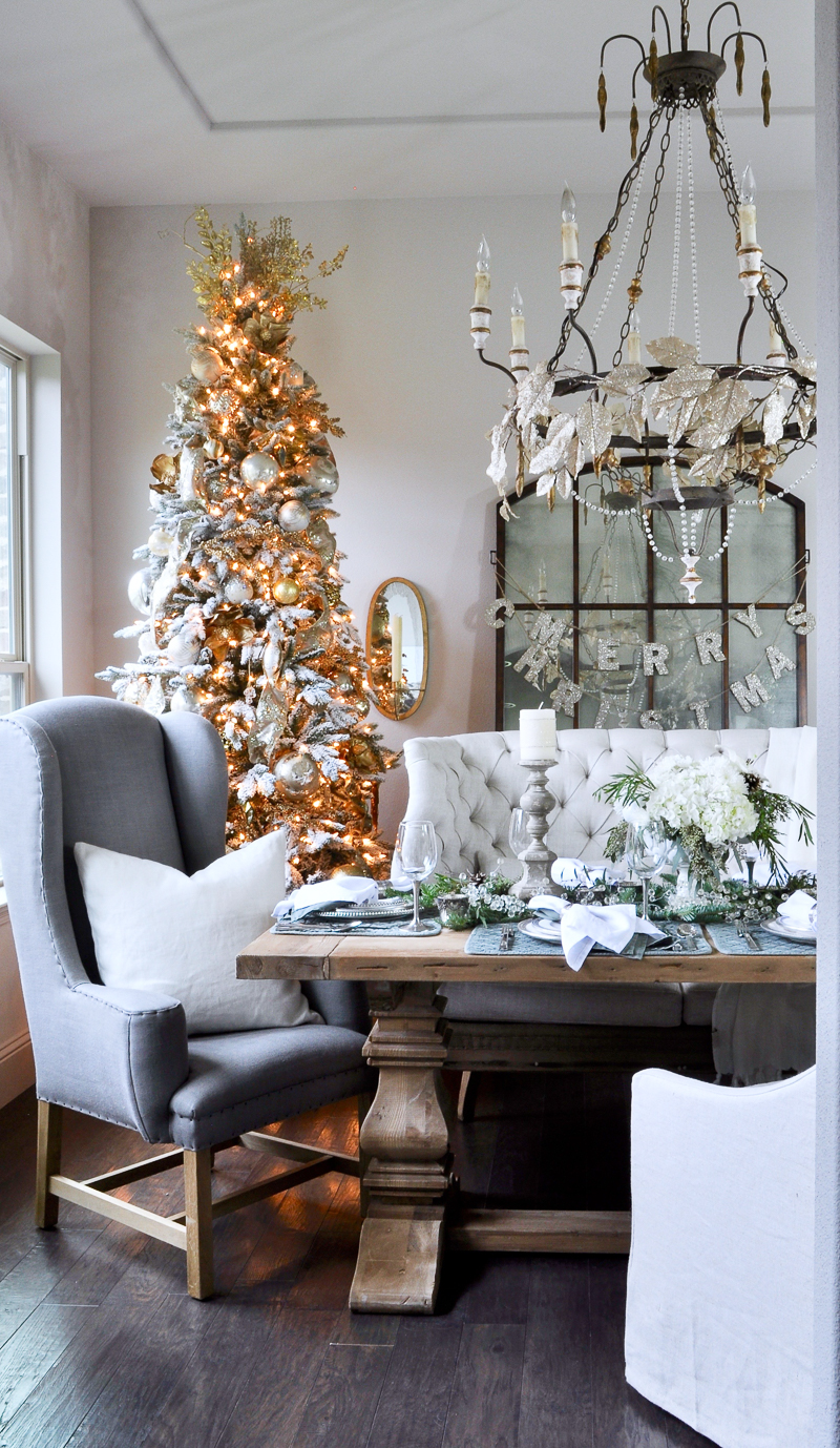 beutiful view of dining room from kitchen - Christmas Dining Room