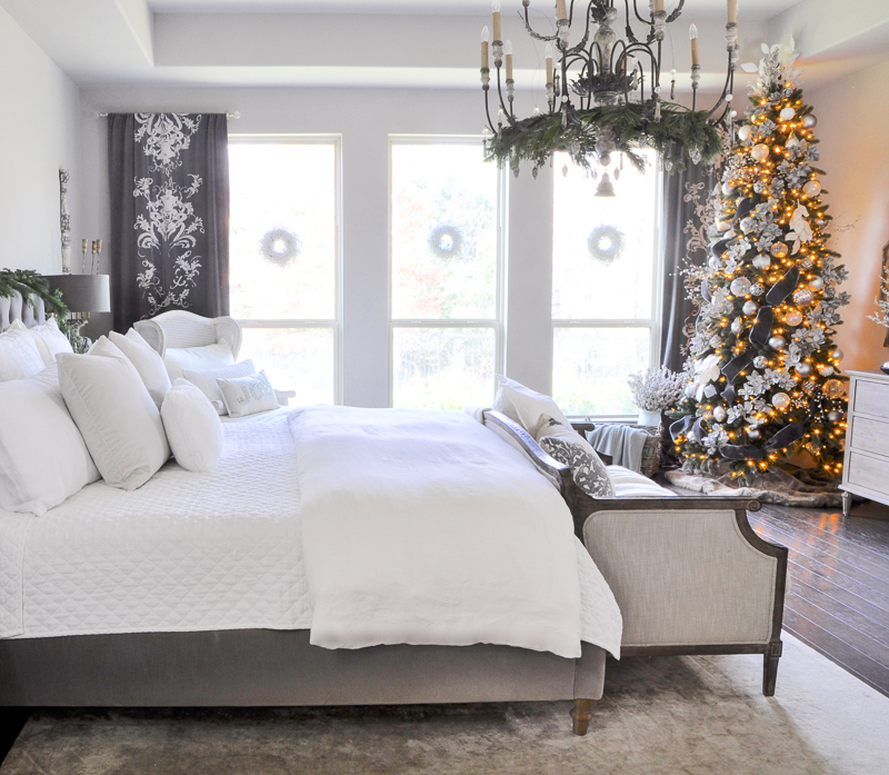 elegant-gray-and-white-bedroom-decorated-for-christmas_