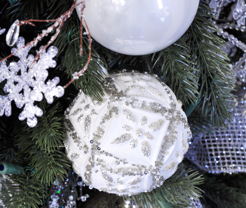 white-and-silver-beaded-ornament