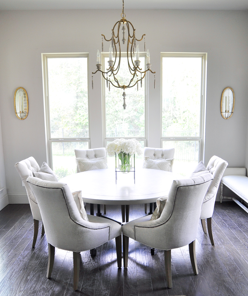 Beautiful Breakfast Round Table Seats Six