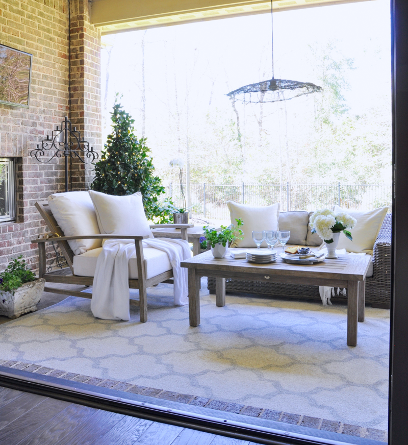 Beautiful patio update reveal
