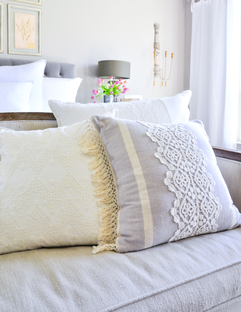 Bright White Bedroom - Styled for Spring - Decor Gold Designs