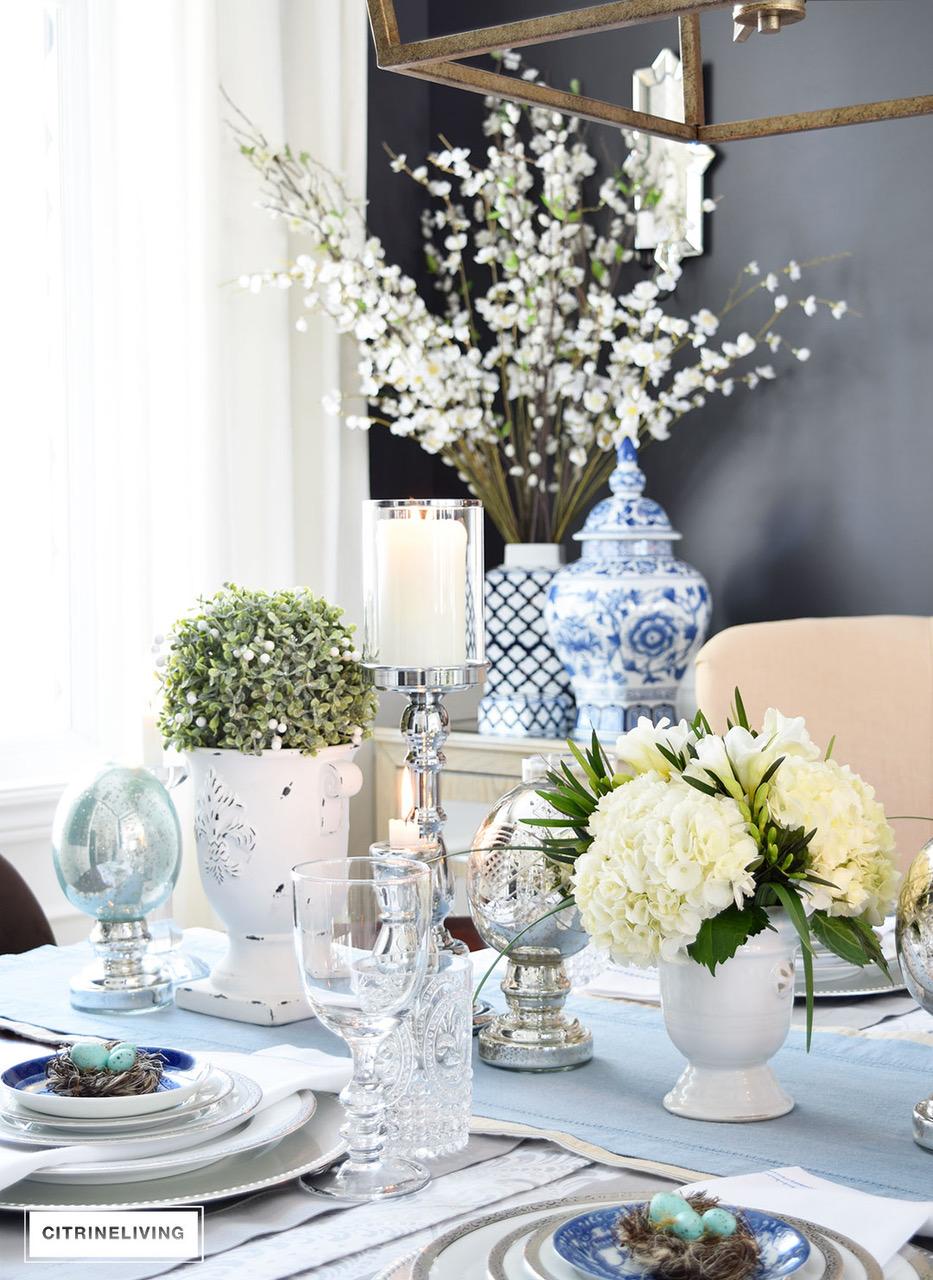Elegant easter table decor gold designs for Email table design