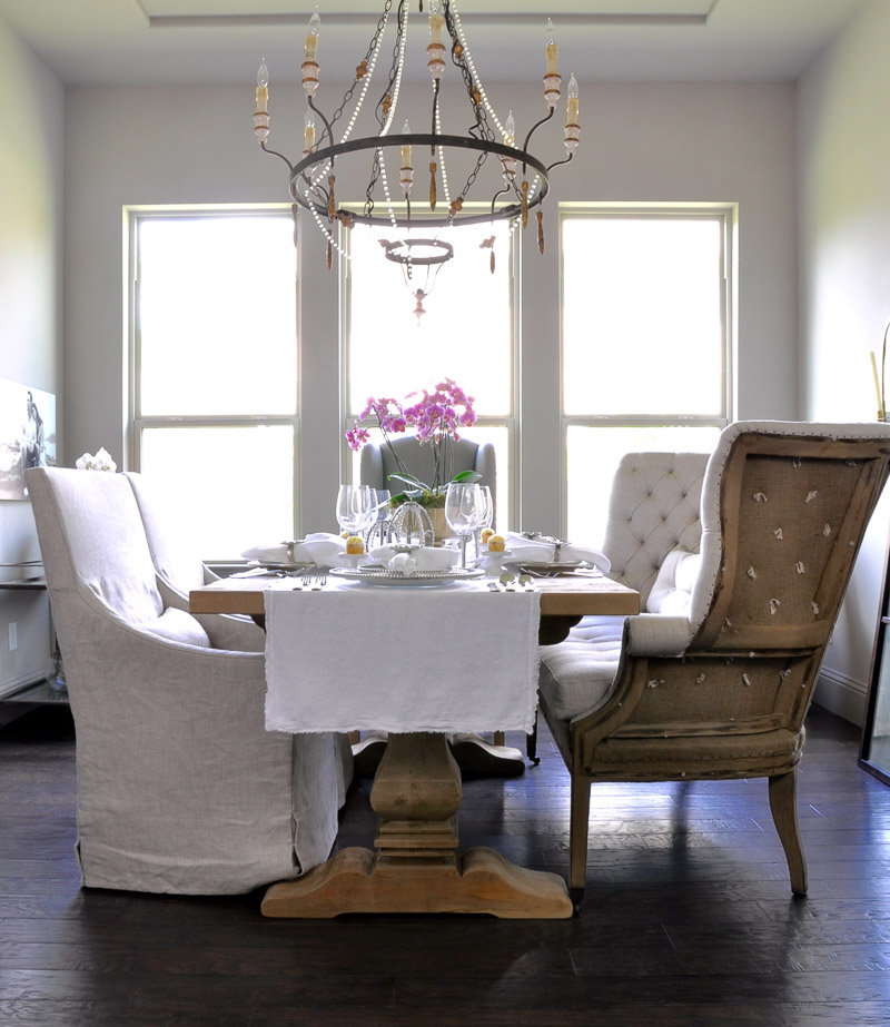 beautiful easter table and dining room