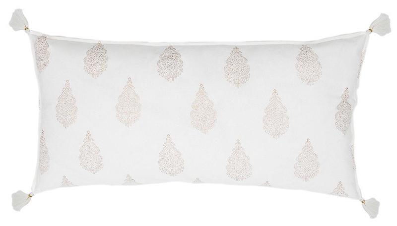 Cute One Room Challenge tassel pillow
