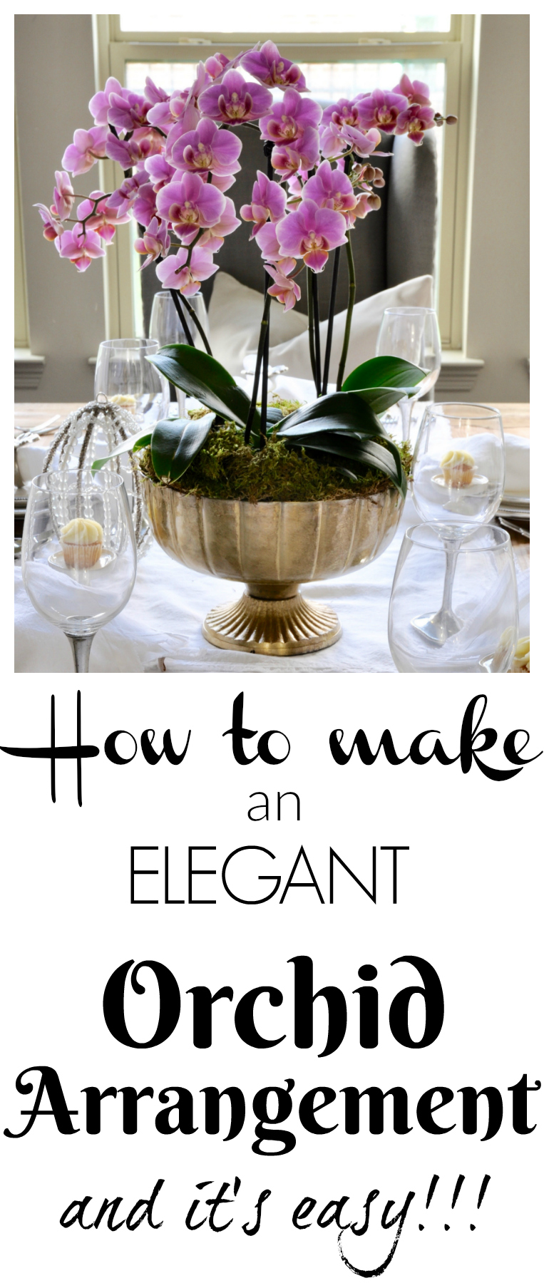 how to make an orchid arrangement it is easy