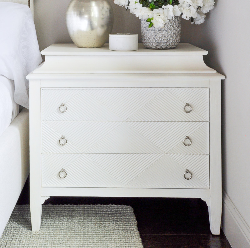 white painted nightstand so pretty