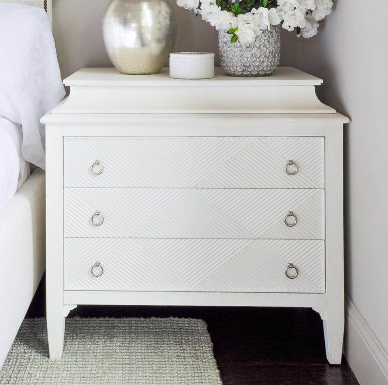 white painted nightstand so pretty