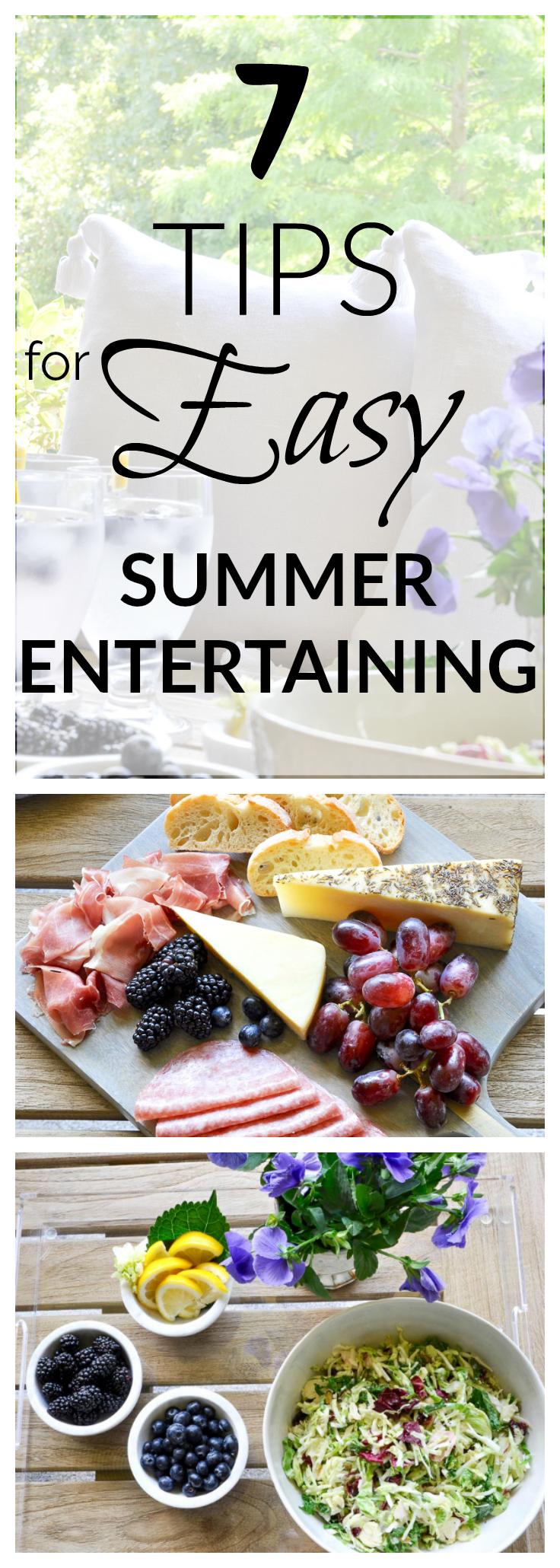 7 tips for easy summer entertaining decor gold designs for Easy entertaining tips